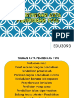 Kepentingan Akta Pendidikan 1996