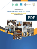 Education Policy 2016Punjab Report NEP
