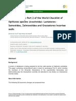 2015 Kury & Pérez-González. World Checklist of Opiliones Part 2