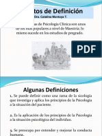 Intentos de Definicion de La Psicologia Clinica (2)
