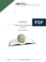 Índice Del Temario de Oposiciones 17-18