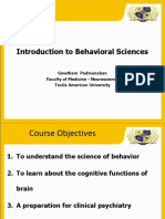 Introduction to Behavior Sciences