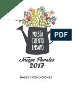 Bases Juegos Florales 2017 1