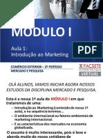 Modulo I - aula 1