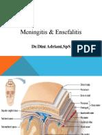 Meningitis, Ensefalitis