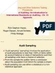 Audit Sampling and Other Selective Testing Procedures