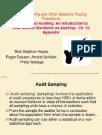 Audit Sampling and Other Selective Testing Procedures
