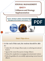 IM Lecture 7 - Chp 7 - Global Alliances and Strategy Implementation