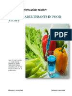 Chemistry investigatory on Study of Adulterants in Food Stuffs