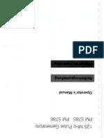 Phillips PM 5786 pulse generator Operator Manual