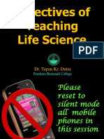 4. Method - Objectives of Teaching Life Science