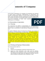 Company Law Chapter Two