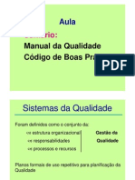 Manual de Qualidade e Codigo
