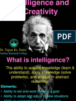 17. Intelligence and Creativity