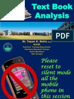 9. Text Book Analysis