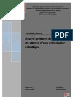 Asservissement de Position Et de Vitesse d'Une Articulation Robotique