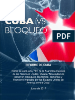 Informe de Cuba Sobre Bloqueo 2017 Español
