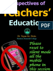2. Perspectives of Teachers Education-2