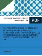 Sistema de Transporte Público de Pasajeros-STPP