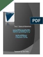 Mantenimiento Industrial- Tema 2 Clase 1