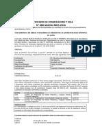 Certificado de Zonificacion y Vias Sr Manuela