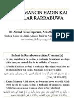 Gudummuwar Makarantun Islamiyyah Wajen Yaki Da Ta'Addanci Da Wuce Da Iri Cikin Al'Umar Addini