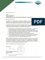 Respuesta del Banhvi ante consulta de la Seccional ANEP-Fuerza Pública