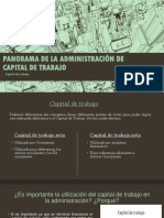 Panorama de La Administración de Capital de Trabajo
