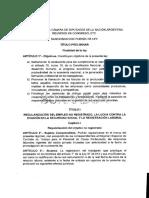 Borrador de la Reforma Laboral de Mauricio Macri
