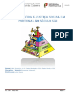 Nível de Vida e Justiça Social Em Portugal No Século XXI