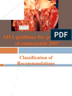 AHA Guidelines for Bacterial Endocarditis Prophylaxis 2007