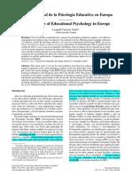 Situación Psicología Educativa en Europa