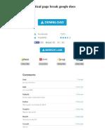 Vertical Page Break Google Docs
