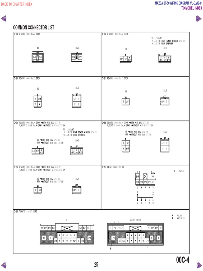 mazda bt50 wl c & we c wiring diagram f198!30!05l23, Wiring diagram