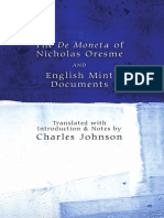 The de Moneta of Nicholas Oresme and English Mint Documents_2