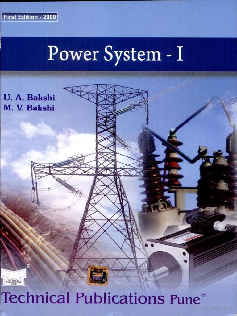 Transmission And Distribution By Bakshi Ebook