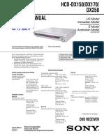 HCD-DX150 DX170 DX250