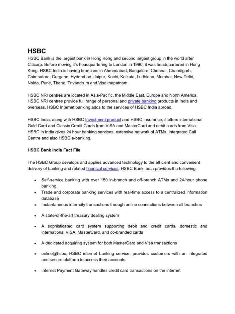 Hsbc | Hsbc | Debit Card