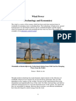 Wind Power Technology and Economics
