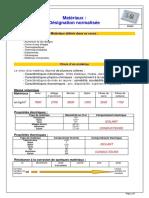Designation Materiaux v4