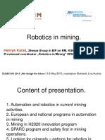 Robotics in Mining - Henryk Karas