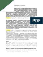 Info de Psicología Jurídica y Forense