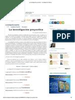 La Investigación Proyectiva _ Investigación Holística