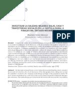 Mujeres Solas, Casa y Trayectorias Sociales. Francisco Garcia González