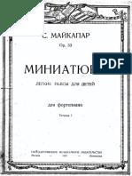 Maykapar Op. 33