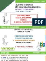 Encuentro Sincronico Med 9 Junio de 2016