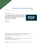 A Longitudinal Investigation of Project-based Instruction