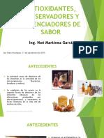 Efecto de Antioxidantes y Conservadores en Alimentos