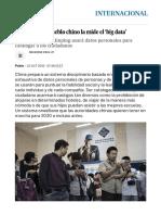 La lealtad del pueblo chino la mide el 'big data' | Internacional | EL PAÍS