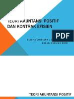 Teori Akuntansi Positif Dan Kontrak Efisien